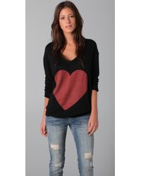 Wildfox | Black Queen Of Hearts Sweater | Lyst