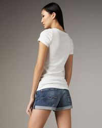 7 For All Mankind | Blue Roll-up Vintage Honolulu Shorts | Lyst