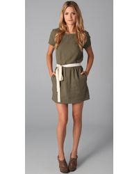American Vintage | Green Drop Waist Dress | Lyst