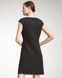 Bottega Veneta   Black Cap-sleeve Dress   Lyst