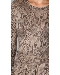 By Malene Birger | Brown Dasiva Snake Print Dress | Lyst