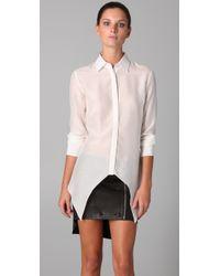 Cushnie et Ochs | White Collared Shirt with Pointed Hem | Lyst