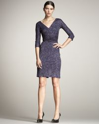 Dior | Purple Cross-front Belted Jersey Dress | Lyst