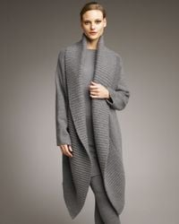 Donna Karan | Gray Stretch Cashmere Sweater Dress | Lyst