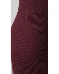 Elizabeth and James - Red Long Ribbed Tube Skirt - Lyst