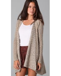 Free People - Natural Beached Shell Cardigan - Lyst