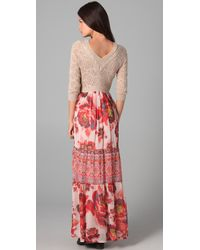Free People - Pink The Ethnic Rose Dress - Lyst