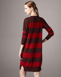 Stella McCartney   Red Wool/cashmere Striped Dress   Lyst