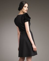 Valentino | Black Rose-shoulder Dress | Lyst