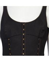Versace   Black Corset Dress   Lyst
