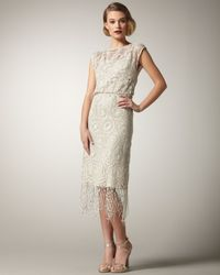 Alice + Olivia | White Lace Fringe Dress | Lyst