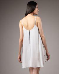 Alice + Olivia - White Cammie Trapeze Dress - Lyst