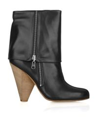 Belle By Sigerson Morrison | Black Fold-over Leather Boots | Lyst