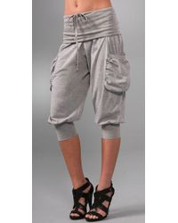 L.A.M.B. | Gray French Terry Harem Pants | Lyst