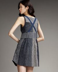 Marc By Marc Jacobs - Anderson Stripe Dress in Normandy Blue - Lyst