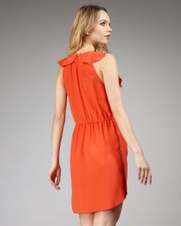 Rebecca Taylor | Orange Oh What A Night Ruffled Dress | Lyst