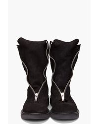 Rick Owens | Black Center Zip Boot for Men | Lyst
