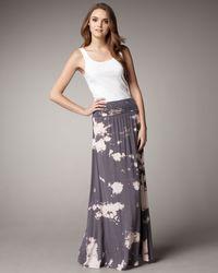 Splendid - Gray Convertible Maxi Dress - Lyst