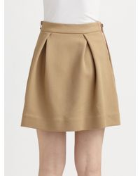 3.1 Phillip Lim | Natural Inverted Pleated Skirt in Camel | Lyst