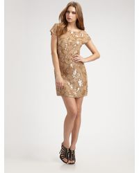 Alice + Olivia | Natural Hallie Sequined Tunic Dress | Lyst