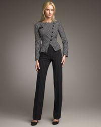 Armani - Black Chalk-stripe Straight-leg Pants - Lyst