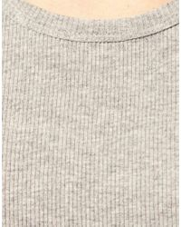ASOS - Gray Rib Vest for Men - Lyst