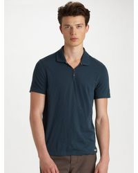 Converse | Blue Jersey Polo for Men | Lyst