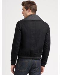 Dior Homme | Black Wool Bomber Jacket for Men | Lyst