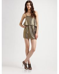 Elizabeth and James | Metallic Brenna Tank Dress | Lyst
