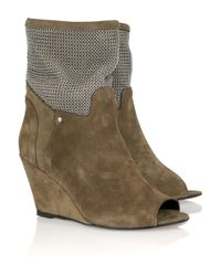 IRO | Natural Tobias Embellished Suede Boots | Lyst