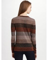 Marc By Marc Jacobs | Brown Camino Lurex Sweater | Lyst