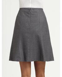 Nanette Lepore | Gray Shining Skirt | Lyst