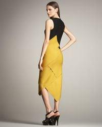 Proenza Schouler - Yellow Colorblock Spiral Dress - Lyst