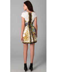 Tibi | Multicolor Baroque Print Dress with Cap Sleeves | Lyst
