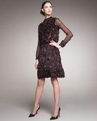 Valentino | Purple Feather Skirt | Lyst