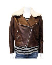 Acne   Rite Moto Jacket in Brown   Lyst