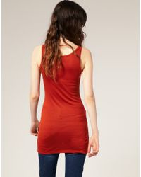 ASOS - Red Basic Longline Vest - Lyst