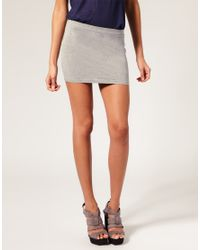 ASOS Collection - Gray Asos Jersey Micro Mini Skirt - Lyst