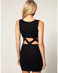 ASOS Collection | Black Asos Petite Exclusive Bodycon Dress with Cut Out Waist | Lyst