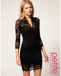 ASOS - Black Exclusive Katie Lace Dress - Lyst