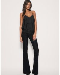 ASOS Collection - Black Asos Super Sexy Flare Jeans - Lyst