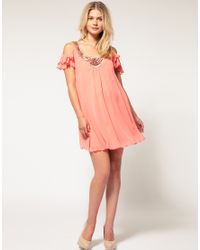 ASOS Collection - Pink Asos Maternity Embellished Neck Swing Dress - Lyst