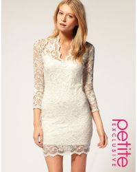 ASOS - White Exclusive Katie Lace Dress - Lyst