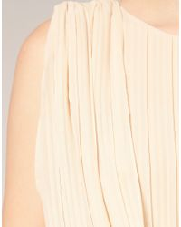 ASOS Collection - Natural Asos Petite Pleated Drape Front Skater Dress - Lyst