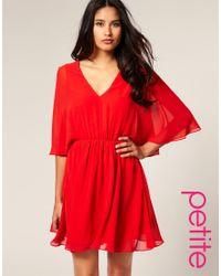 ASOS Collection - Red Asos Petite Chiffon Kaftan Dress - Lyst