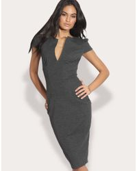 ASOS Collection | Gray Asos Ponti Pencil Dress with Pockets | Lyst