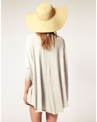 ASOS | Gray Loose Drape Long Sleeve Top | Lyst