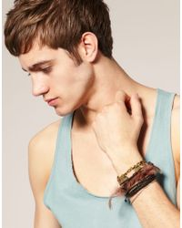 ASOS Collection - Multicolor Asos Navajo Feather Bracelet Pack for Men - Lyst