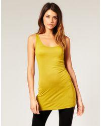 ASOS | Yellow Basic Longline Vest | Lyst