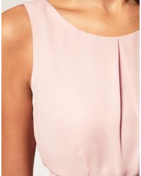 ASOS Collection - Pink Asos Tulip Dress with Tie Back - Lyst